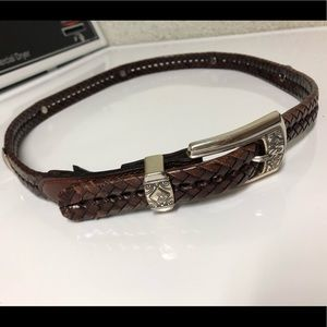 Brighton Woven Leather Belt